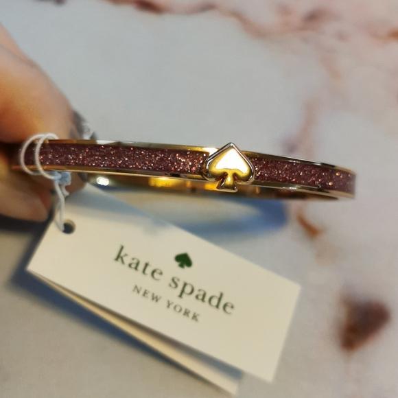 NWT Kate Spade Heritage Spade Pink Gold Bracelet